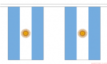 ARGENTINA BUNTING - 3 METRES 10 FLAGS